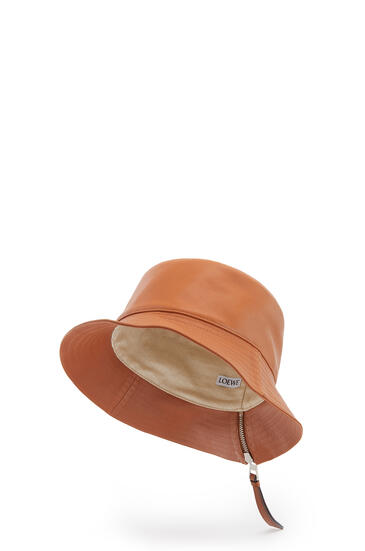 LOEWE Fisherman hat in nappa calfskin Tan pdp_rd