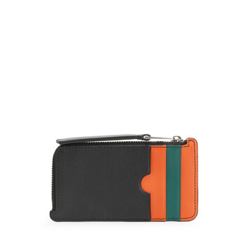 LOEWE Stripes C/C Holder orange/green front
