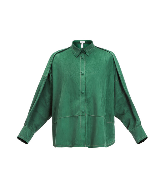 LOEWE オーバーサイズシャツ グリーン front