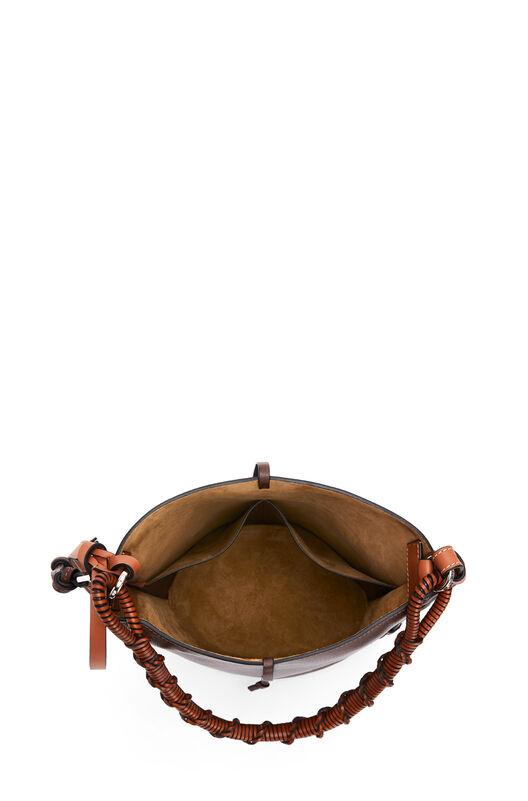LOEWE Gate Bucket Handle Bag Brunette front