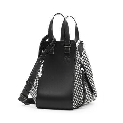 LOEWE Hammock Tweed Small Bag 黑色/白色 front