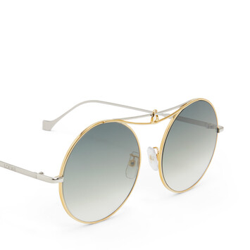 LOEWE Metal Knot Round Sunglasses Gold/Blue front