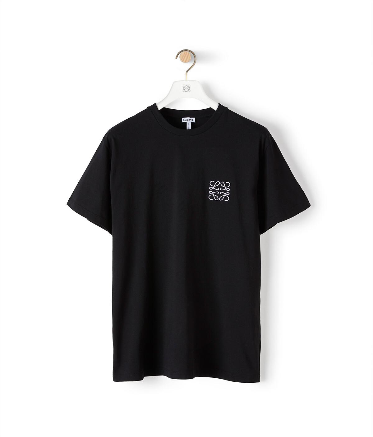 LOEWE Anagram T-Shirt 黑色 front