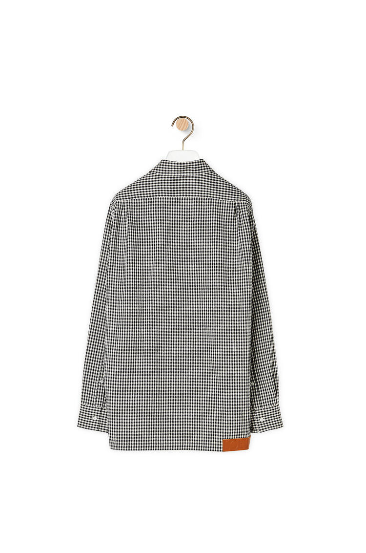 LOEWE Military pocket shirt in cotton and linen Black/White pdp_rd