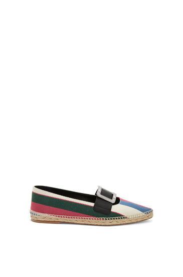 LOEWE 棉和小牛皮尖头针扣草鞋 Pink/Green/Light Blue pdp_rd