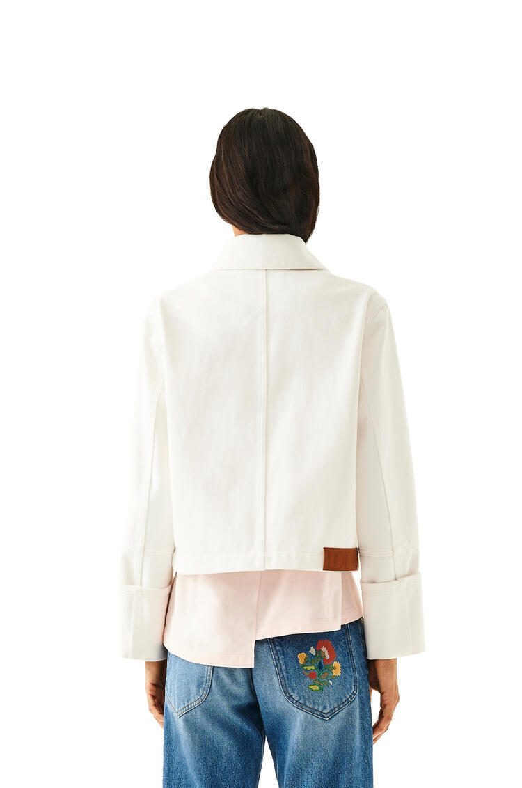 LOEWE Button Jacket In Cotton White pdp_rd