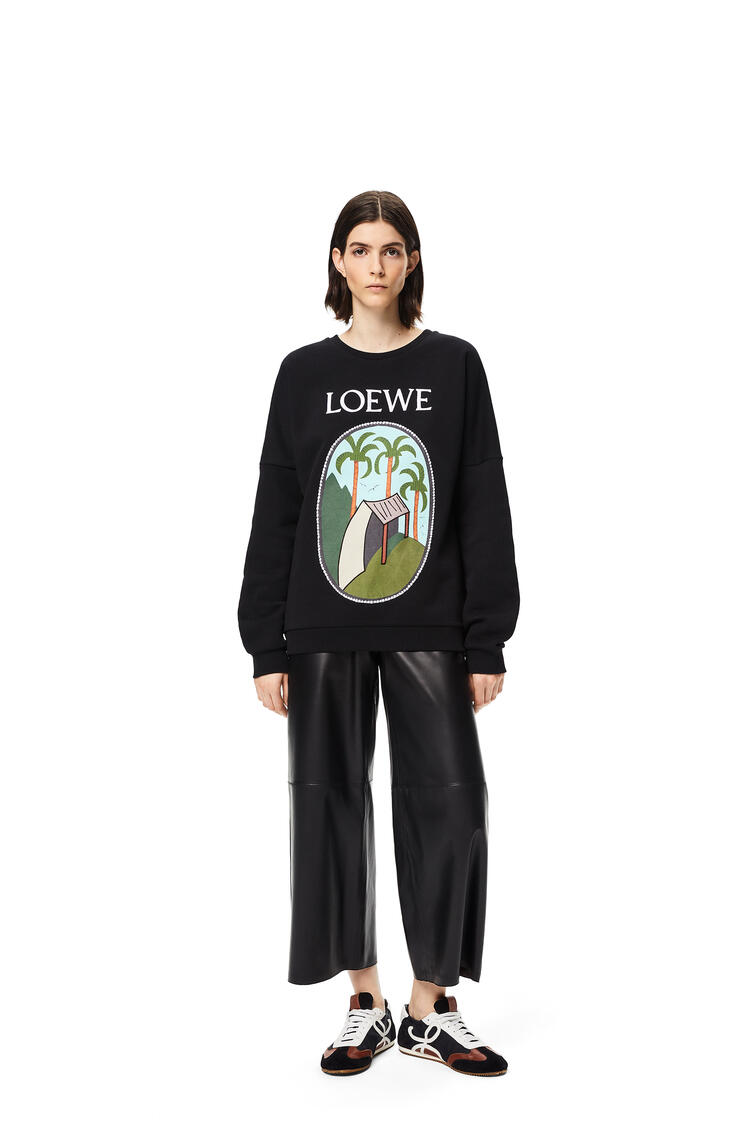 LOEWE La Palme patch sweatshirt in cotton Black pdp_rd