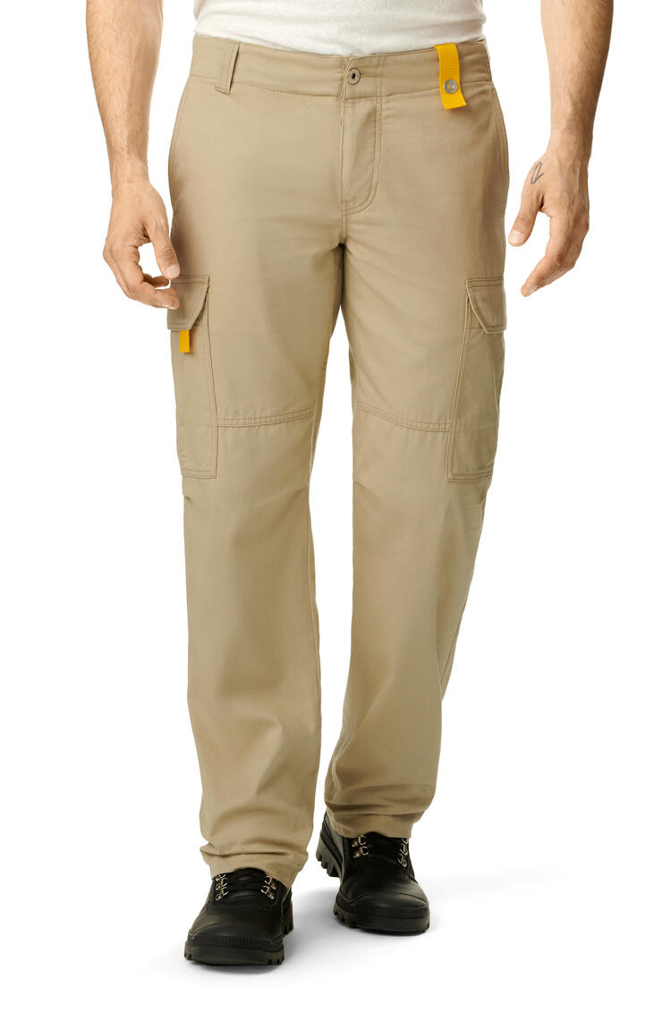 LOEWE Cargo Trousers In Cotton Beige pdp_rd