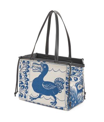 LOEWE Cushion Tiles Bag ブルー front