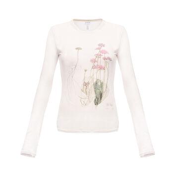 LOEWE Long Sleeve T-Shirt Botanical Marfil front