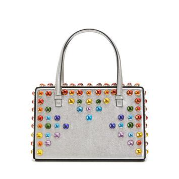 LOEWE Postal Cabochon Bag Silver front