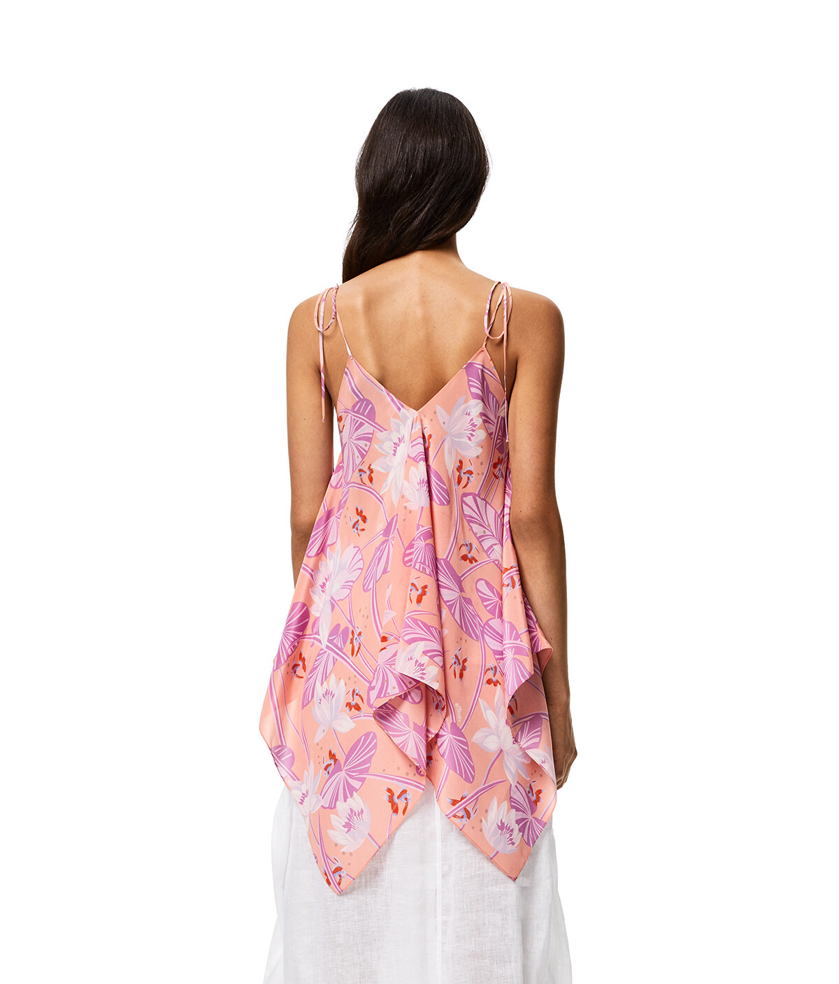 LOEWE Tank Top In Waterlily Silk Salmon front