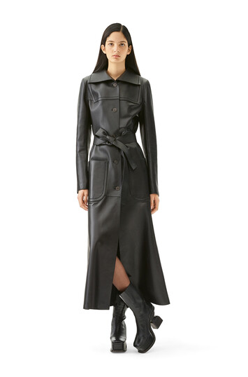 LOEWE Patch Pocket Coat Black front