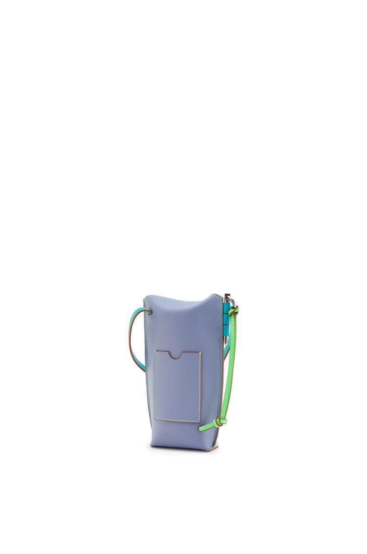 LOEWE ゲートポケット (ソフト カーフスキン) Mint/Blueberry pdp_rd