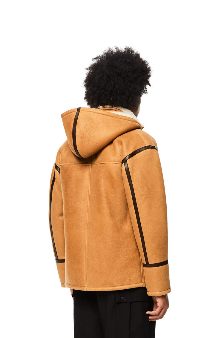 LOEWE Duffle coat in shearling Light Brown pdp_rd