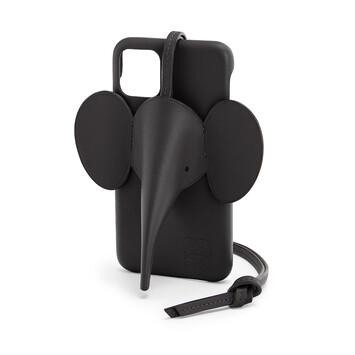 LOEWE Elephant Cover For Iphone 11 Black front