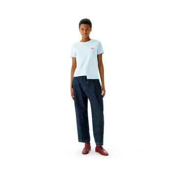LOEWE Asymmetric T-Shirt Azul Claro front