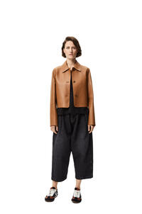 LOEWE Button jacket in nappa Brown/Khaki Green pdp_rd
