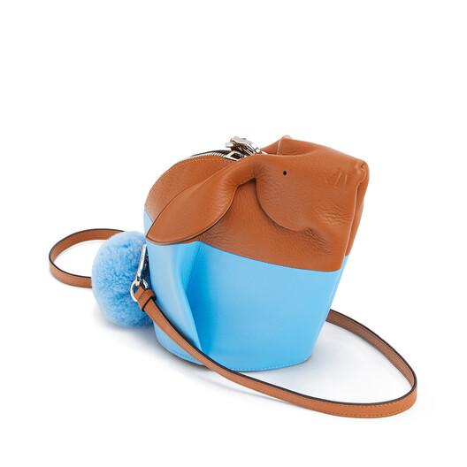 LOEWE Bunny Colour Block Mini Bag Tan/Sky Blue front