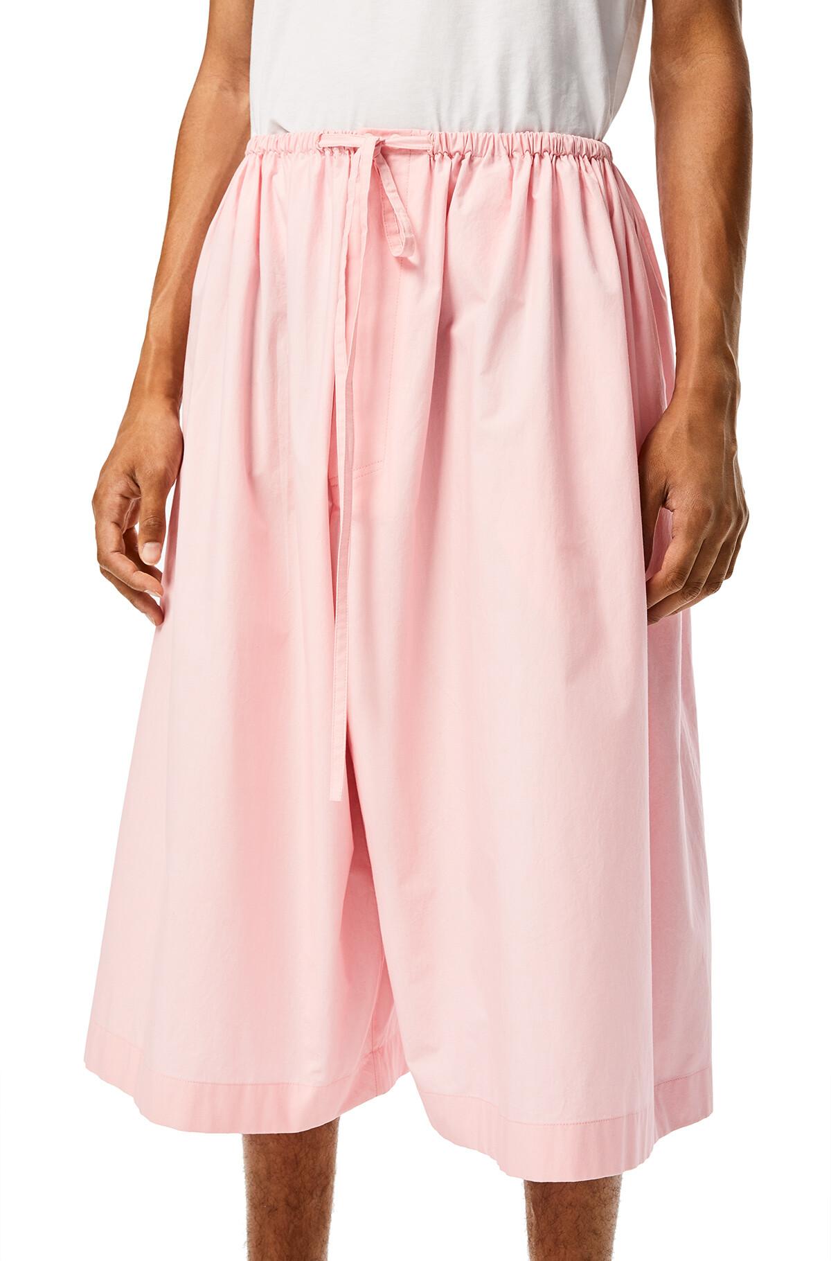 LOEWE Drawstring Shorts Baby Pink front