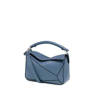 LOEWE Puzzle Mini Bag Varsity Blue front