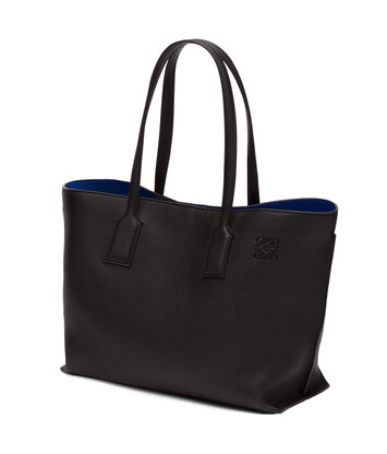 LOEWE Bolso T Shopper Negro/Azul Electrico front