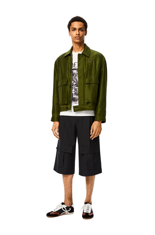 LOEWE Cargo Short Trousers 深海軍藍 front