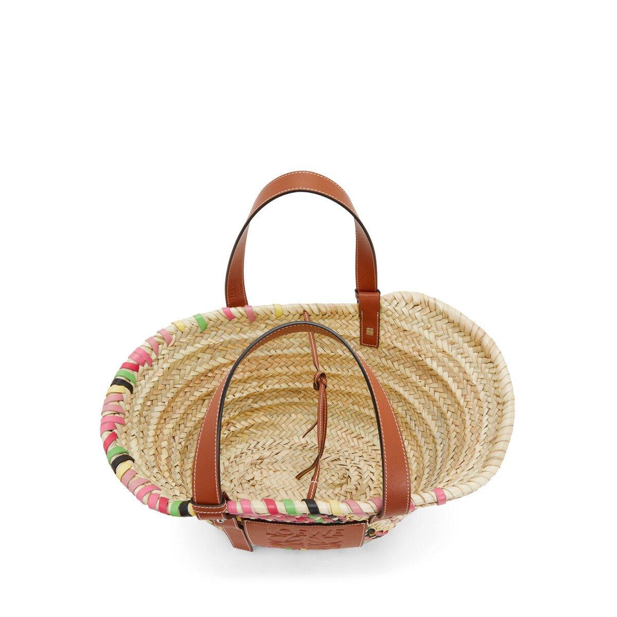 LOEWE バスケットバッグ Pink Multitone/Tan front