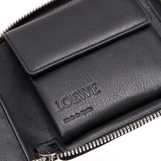 LOEWE Patch Square Zip Wallet Cognac front