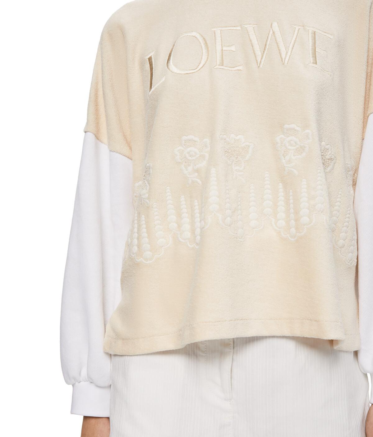 LOEWE Embroidered Sweatshirt Ecru/White front