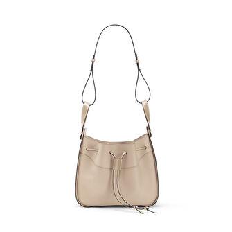 LOEWE Hammock Drawstring Medium Bag Light Oat  front