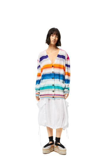 LOEWE Cardigan in striped cotton Multicolor/White pdp_rd