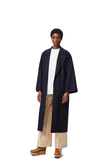 LOEWE 超大号羊绒和真丝束腰外套 海军蓝 pdp_rd
