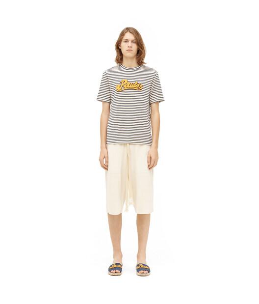 LOEWE Paula Stripe T-Shirt White/Navy Blue front