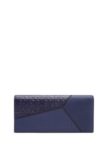 LOEWE Puzzle long horizontal wallet in calfskin 海軍藍 pdp_rd