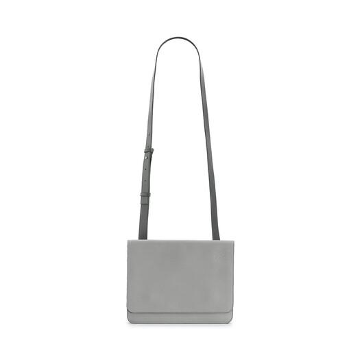 LOEWE Gusset Flat Messenger Bag Gunmetal front