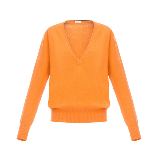 LOEWE V Neck Sweater Naranja all