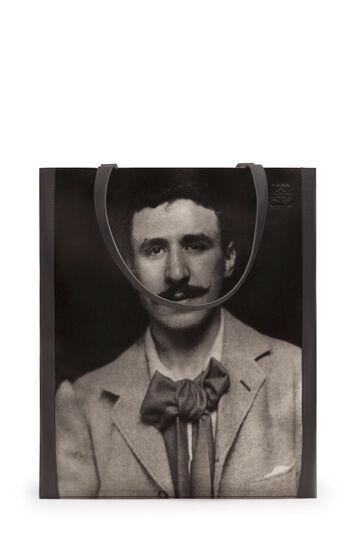 LOEWE Bolso Vertical Tote Retrato Negro front