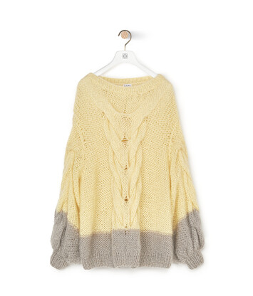 LOEWE Oversize Sweater Amarillo/Gris front
