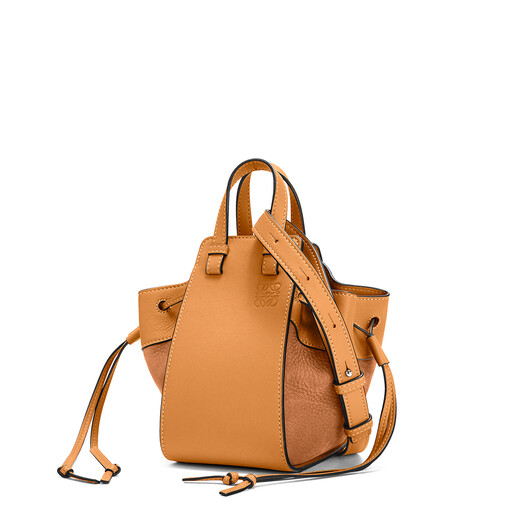 LOEWE Hammock Drawstring Mini Bag Honey front