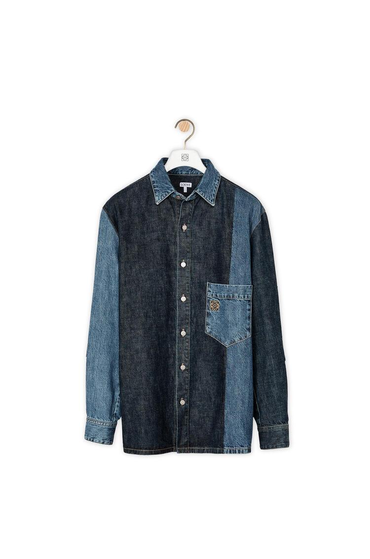 LOEWE Patch pocket shirt in denim Indigo pdp_rd