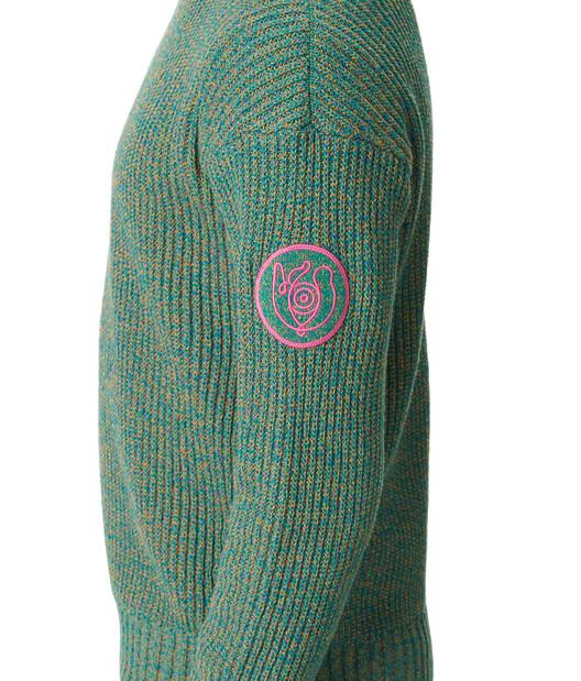 LOEWE Eln Melange Crewneck Sweater Emerald Green front