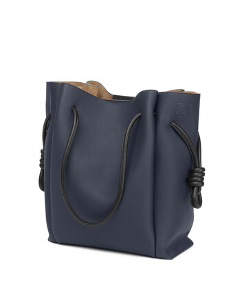 LOEWE Bolso Flamenco Knot Tote Azul Medianoche/Negro front