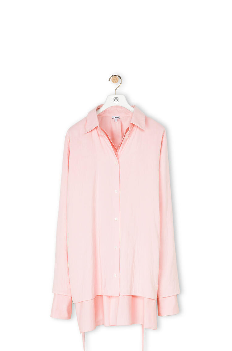LOEWE Double layer shirt in cotton Baby Pink pdp_rd