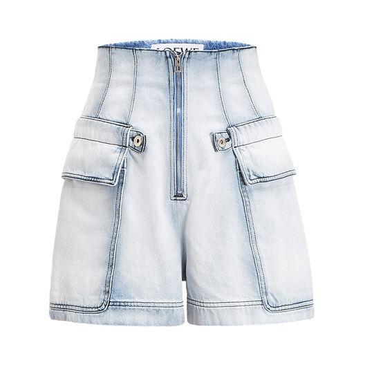 LOEWE Cargo Denim Shorts Blue front