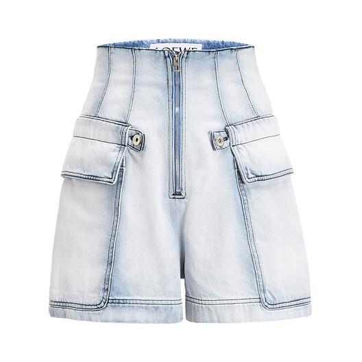 Cargo Denim Shorts