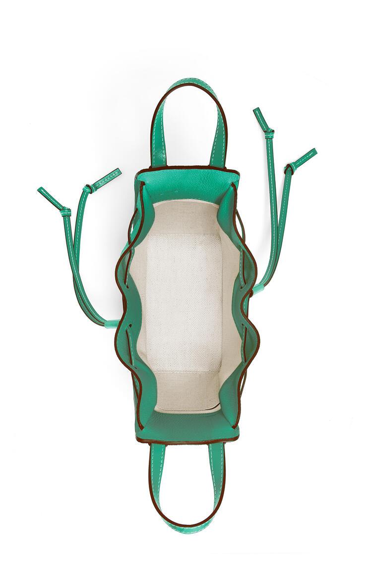 LOEWE ハンモック ドローストリングバッグ ミニ (ソフトグレインカーフ) emerald green pdp_rd