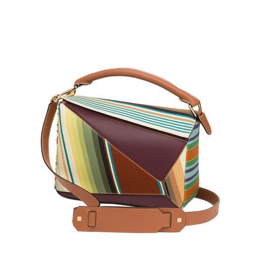 LOEWE(ロエベ)- Puzzle Stripes Bag Multicolor