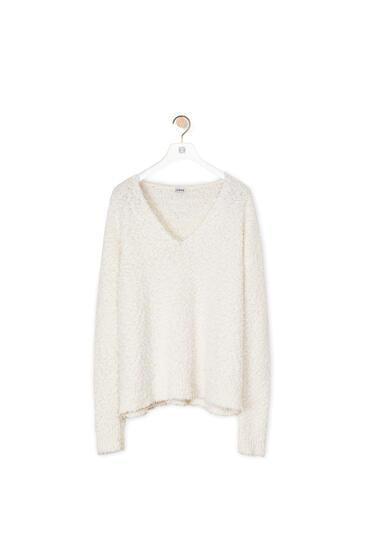 LOEWE Yzzuf v neck sweater in wool White pdp_rd