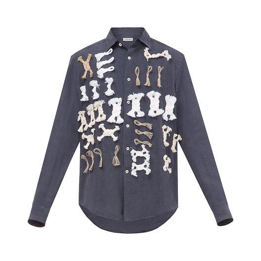 LOEWE Knot Embroidery Shirt Indigo all